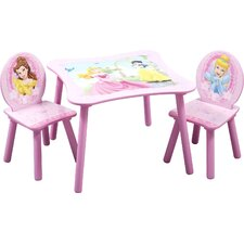 Disney Princess Kids' 3 Piece Table & Chair Set
