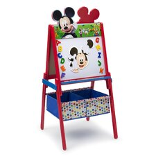 Mickey Mouse Wooden Double Sided Activity Easel with Storage