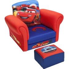Cars Kids Chair and Ottoman Set