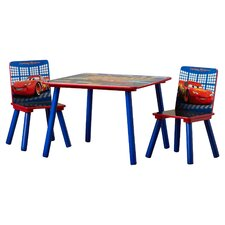 Disney Pixar's Cars Kids' 3 Piece Table & Chair Set