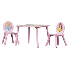 Disney Princess Kids 3 Piece Table & Chair Set