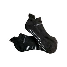 ExerSock Large Yoga and Pilates Socks in Black