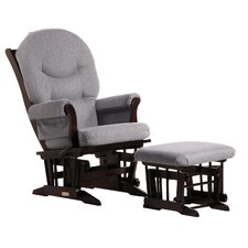 Soft Microfiber Sleigh Glider and Ottoman