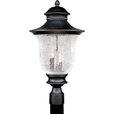 Outdoor 3 Light Cast Aluminum Post Lantern