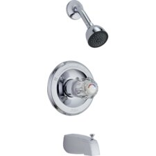 Classic Thermostatic Tub and Shower Faucet Trim with Knob Handles