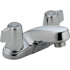 Classic Centerset Bathroom Faucet with Metal Blade Handles