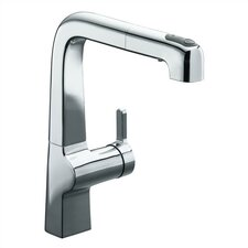 "Evoke Single-Hole Kitchen Sink Faucet with 9"" Pullout Spout"