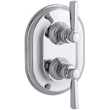 Bancroft Stacked Valve Trim with White Ceramic Lever Handles, Requires Valve