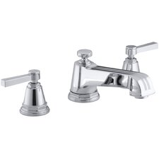 Pinstripe Deck-Mount Bath Faucet Trim for High-Flow Valve with Lever Handles, Valve Not Included