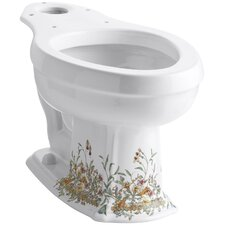 English Trellis Design On Portrait Toilet Bowl Product Photo