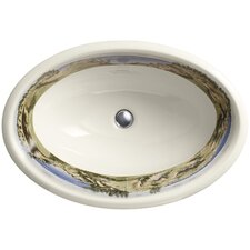 Whistling Straits Design On Centerpiece Drop-In Bathroom Sink