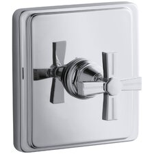 Pinstripe Valve Trim with Cross Handle for Thermostatic Valve, Requires Valve