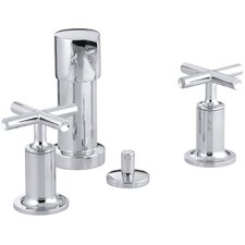 Purist Vertical Spray Bidet Faucet with Cross Handles