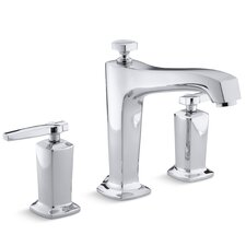 Margaux Deck-Mount Bath Faucet Trim for High-Flow Valve with Diverter Spout and Lever Handles, Valve Not Included