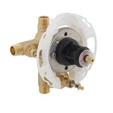 """Rite-Temp 1/2"""" Pressure-Balancing Valve with Push-Button Diverter and Screwdriver Stops"""