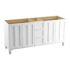 """Damask 72"""" Vanity Base with Furniture Legs, 4 Doors and 3 Drawers"""