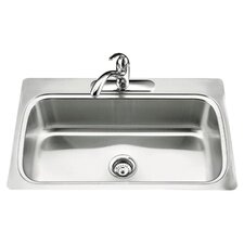 """Verse 33"""" x 22"""" x 8-1/4"""" Top-Mount Single-Bowl Kitchen Sink with Single Faucet Hole"""