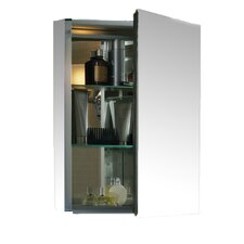 "20"" x 26"" Aluminum Medicine Cabinet with Mirrored Door"