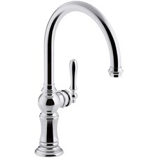 Artifacts Single-Hole Kitchen Sink Faucet with Swing Spout, Arc Spout Design