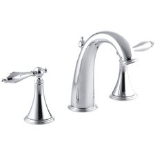 Finial Traditional Widespread Bathroom Sink Faucet with Lever Handles