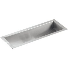 """Undertone 22"""" x 8-1/4"""" x 5-1/4"""" Under-Mount Single-Bowl Trough Kitchen Sink"""