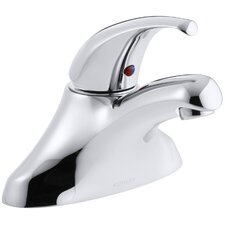 Coralais Centerset Commercial Bathroom Sink Faucet with Lever Handle and Flexible Supplies, Drain Not Included