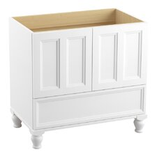 """Damask 36"""" Vanity Base with Furniture Legs, 2 Doors and 1 Drawer"""