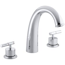 "Taboret Deck-Mount Bath Faucet Trim for High-Flow Valve with Lever Handles and 7-1/2"" Non-Diverter Spout , Valve Not Included"