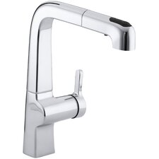 """Evoke Single-Hole Kitchen Sink Faucet with 9"""" Pullout Spout"""