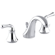 Forté Widespread Bathroom Sink Faucet with Traditional Lever Handles