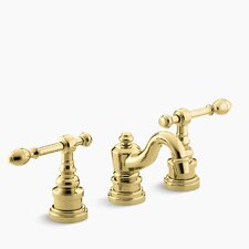 Iv Georges Brass Widespread Bathroom Sink Faucet with Lever Handles
