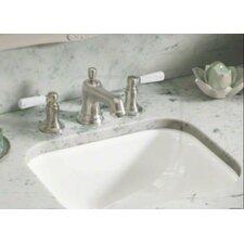 "Tahoe Undermount Bathroom Sink with Oversize 8"" Widespread Faucet Holes"