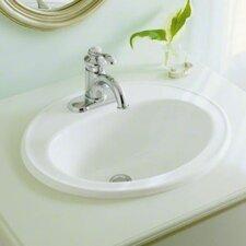 Pennington Drop-In Bathroom Sink with Single Faucet Hole
