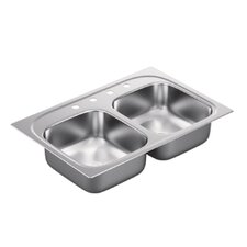 1800 Series Double Bowl Drop-In Kitchen Sink