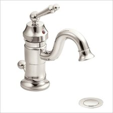 Waterhill Single Handle Bathroom Faucet with Drain Assembly in Polished Nickel