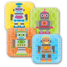 Robot Kids Plate (Set of 4)