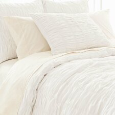 Smocked Cotton Duvet Cover
