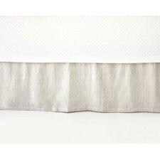 Pinstripe Linen Bed Skirt