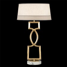 "Allegretto Gold 34"" H Table Lamp with Empire Shade"