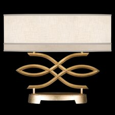 "Allegretto Gold 21"" H Table Lamp with Rectangular Shade"