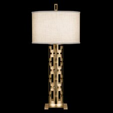 "Allegretto Gold 33"" H Table Lamp with Drum Shade"