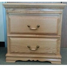 Country Heirloom 2 Drawer Nightstand