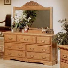 Country Heirloom 7 Drawer Dresser with Mirror