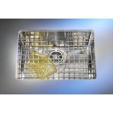"Kubus 19.25"" x 17.31"" Single Bowl Kitchen Sink"