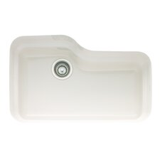 "Orca 30"" x 19.5"" Fireclay Undermount Kitchen Sink"