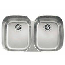 """Regatta 33"""" Stainless Steel Double Bowl Kitchen Sink"""