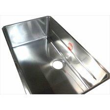 "Kubus 28.75"" x 17.31"" Single Bowl Kitchen Sink"