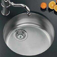 """17.13"""" x 17.13"""" Rotondo Top Mount Kitchen Sink"""