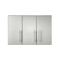 """23.6"""" H x 35.4"""" W x 14"""" D Partitioned Wall Cabinet"""