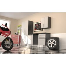 Garage PRO 7' H x 9' W x 2' D 5-Piece Cabinet Set with Workstation